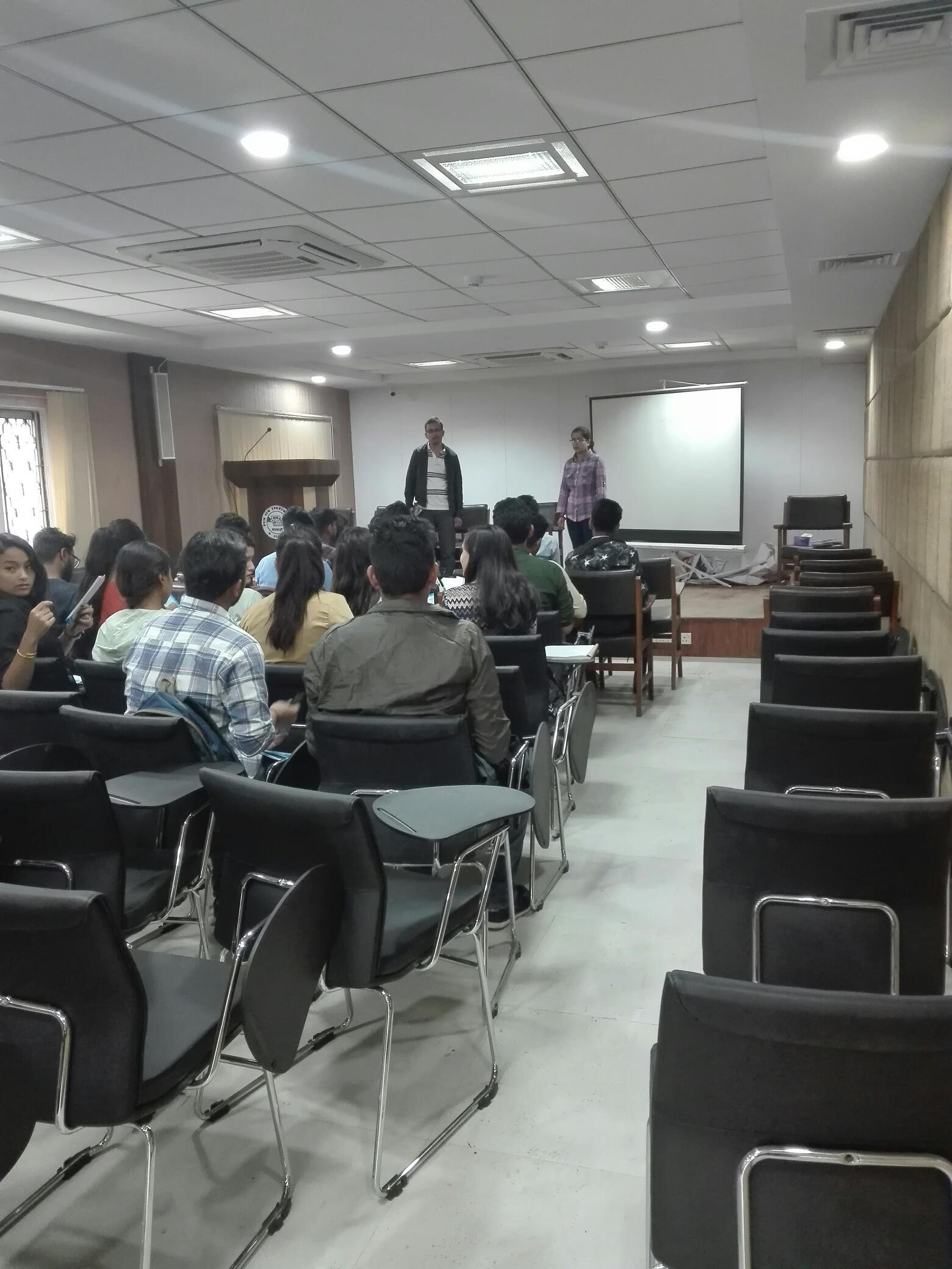BBA students of Uniglobe College visited NEPSE