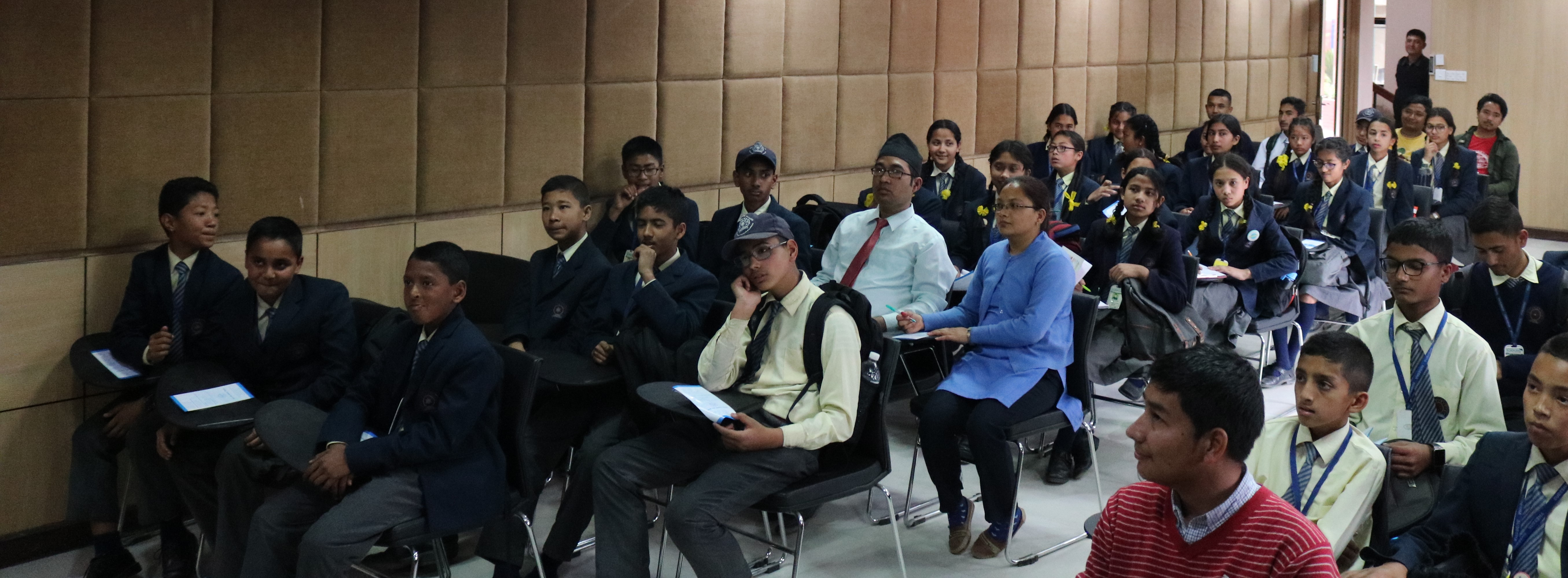 Students of Sudesha High School during the Event.