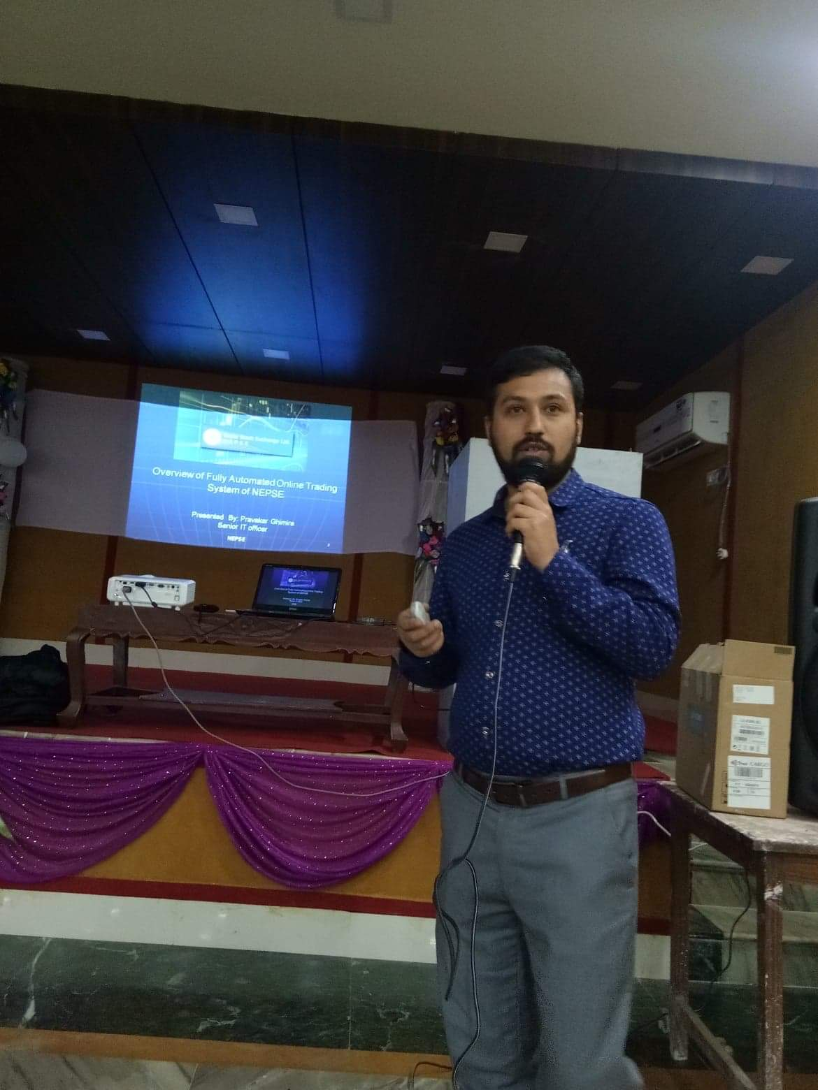 Mr. Pravakar Gimire presentation on